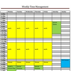 Time Management Calendar