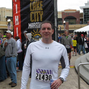 Jeremy Pattillo at a marathon.