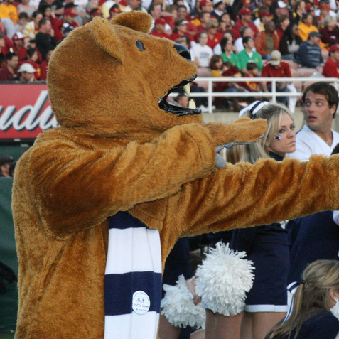The Nittany Lion mascot