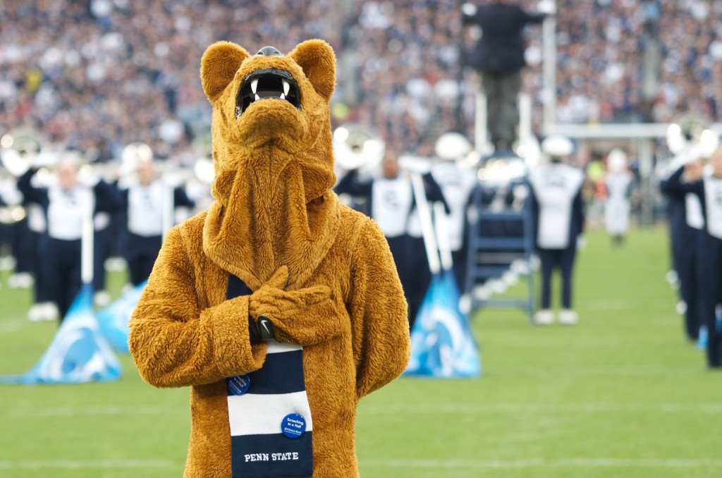 The Nittany Lion at All-University Day. Photo by Eric Weiss.