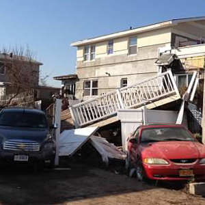 Damage from Hurricane Sandy.