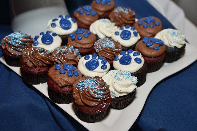 Cupcakes at the Fall 2012 graduation celebration