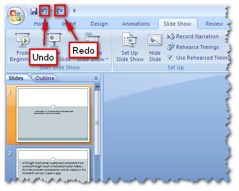 MS Word 2010 - Undo, Redo