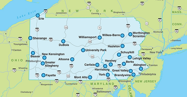 Penn State campuses
