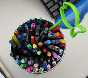 A small portion of Georgelle's sharpies.