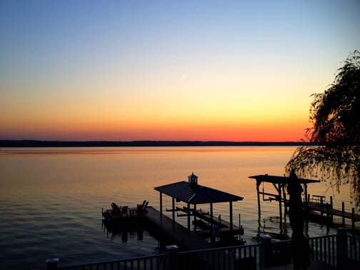 A sunset on Seneca Lake in the beautiful Finger Lakes region of Western New York. Photo by: Jackie Doyle