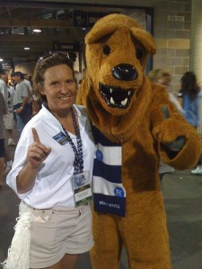 World Campus Blue & White Society President, Wendy Weidman.