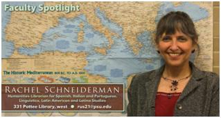 Rachel Schneiderman, Humanities Librarian at Penn State University Libraries