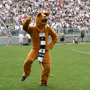 The Nittany Lion mascot. Image courtesy of Penn State Live.