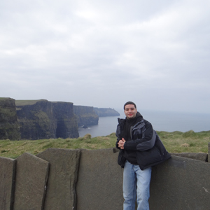 Luis Cruz at the Cliffs of Moher in Ireland.