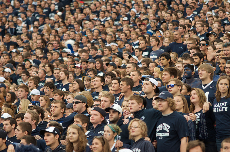 Student crowd at a football game