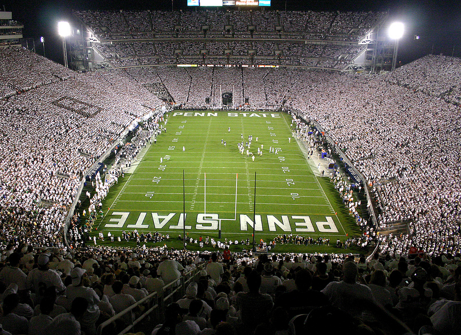 Penn State whiteout at Beaver Stadium