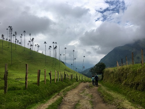 Hiking in Colombian countryside