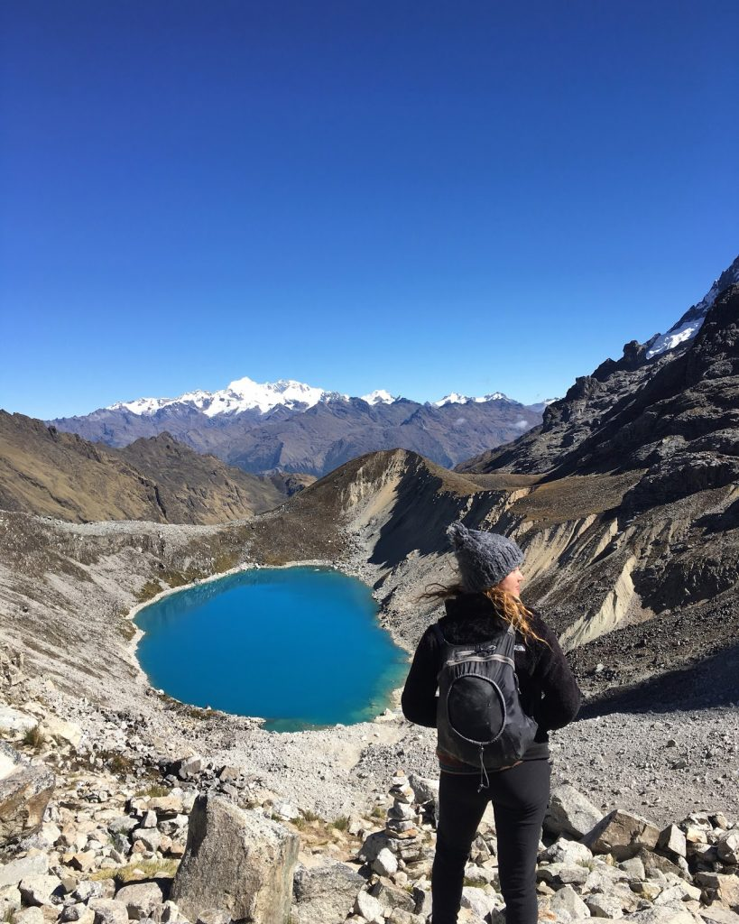 Laguna on Salkantay Trek
